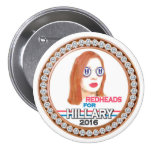 Redheads for Hillary 2016 7.5 Cm Round Badge