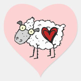 Redneck Sweetheart - Sheep Love Heart Sticker