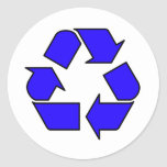 Reduce Reuse Recycle Logo Symbol Arrow 3R Round Sticker