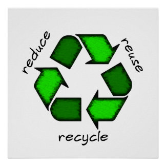 Reduce, Reuse Recycle Poster