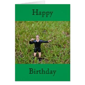 Referee Soccer/Football Happy Birthday Card