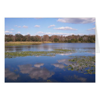 Reflections of the lake stamp greeting card