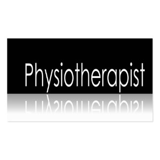 Reflective Text - Physiotherapist - Business Card