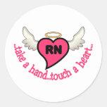 Registered Nurses Touch Round Sticker