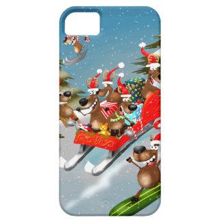 Reindeer Christmas sleigh ride iPhone 5 Cases