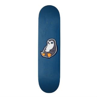Relaxing Penguin Sweet Big Eyes Ink Drawing Design 19.7 Cm Skateboard Deck