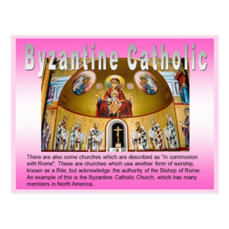 Religion, Roman Catholic Church, Byzantine Postcard