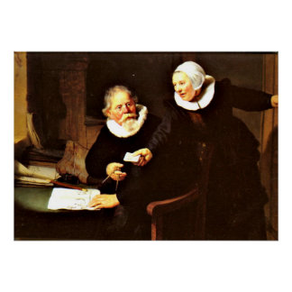 Rembrandt: The Shipbuilder and his Wife, 1633 Poster