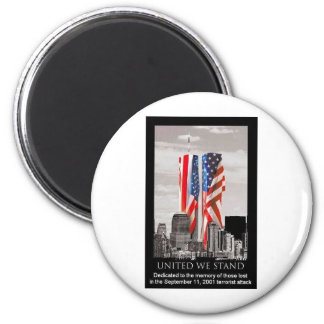 Remember 9/11 6 cm round magnet