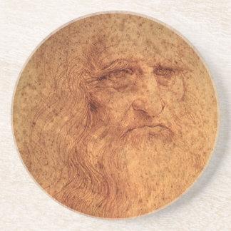 Renaissance Art Self Portrait by Leonardo da Vinci Drink Coaster