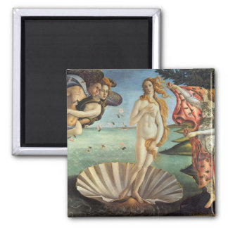 Renaissance Art, The Birth of Venus by Botticelli Square Magnet