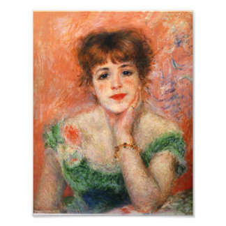 Renoir Jean Samary in a Low Necked Dress Print Photographic Print
