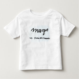 Reproduction of the signature of Mary I T Shirts