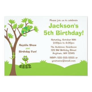 Reptile Tree Birthday Party 13 Cm X 18 Cm Invitation Card