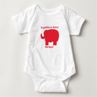 Republican Baby Red Elephant Name Personalized Shirts