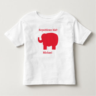 Republican Kid Red Elephant Name Personalized T Shirt