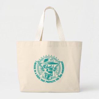 Reside In A State That Protects The 2nd Amendment Jumbo Tote Bag