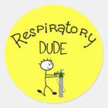 Respiratory DUDE T-Shirts & Gifs Round Sticker