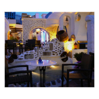 Restaurant Greece Poster