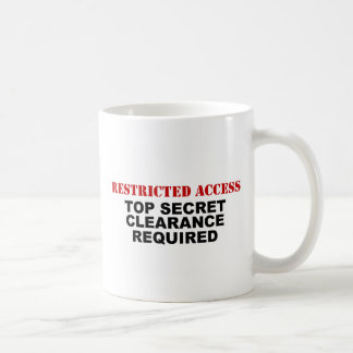 Restricted Access Basic White Mug