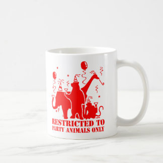 Restricted to party animals only basic white mug