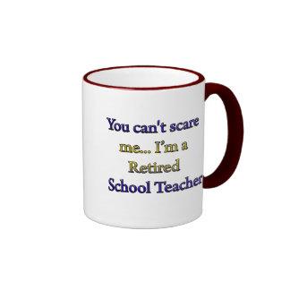 RETIRED SCHOOL TEACHER RINGER MUG