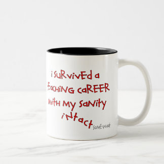 Retired Teacher Gifts, Hilarious Sayings Two-Tone Mug