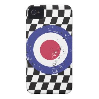 Retro Aged mod target on Checks Case-Mate iPhone 4 Case