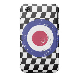 Retro Aged mod target on Checks iPhone 3 Cases
