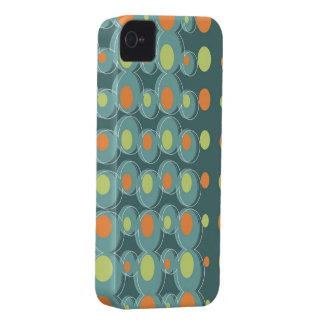 Retro Art Abstract Green Bubbles iPhone 4 CaseMate iPhone 4 Cover