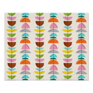 Retro Colorful Nests Poster