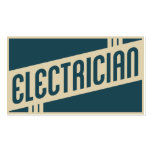 retro electrician pack of standard business cards