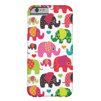 retro elephant kids pattern wallpaper barely there iPhone 6 case