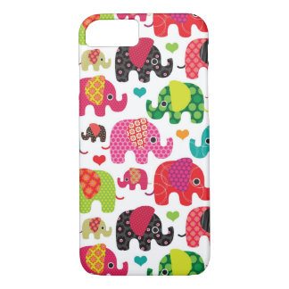 retro elephant kids pattern wallpaper iPhone 7 case