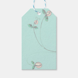 Retro Flower Gift Tag in soft colors