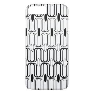 Retro Pod Black Abstract Mod Art iPhone CaseMate iPhone 7 Plus Case