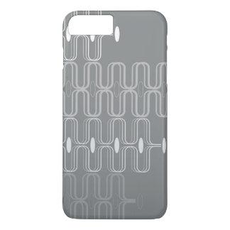 Retro Pod Gray Abstract Mod Art iPhone CaseMate iPhone 7 Plus Case