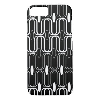Retro Pod White Abstract Mod Art iPhone CaseMate iPhone 7 Case