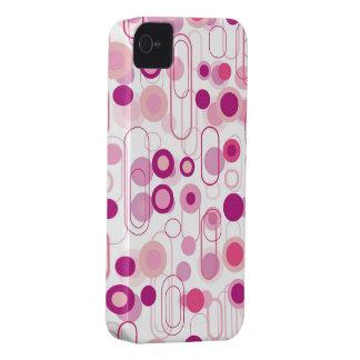 Retro Purple Pods Dots Pattern iPhone 4 CaseMate iPhone 4 Cases