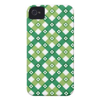 Retro Summer Green Checks Plaid iPhone 4 CaseMate iPhone 4 Cover