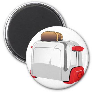 Retro Toaster 6 Cm Round Magnet