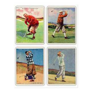 Retro Vintage 20s Golfing Cigarette Will's Cards Postcard