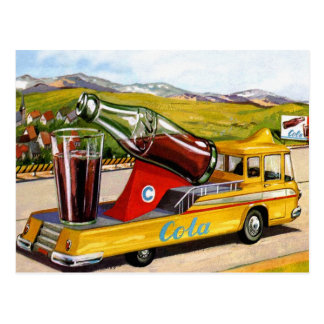 Retro Vintage Kitsch Advertising 60s Cola Truck Postcard