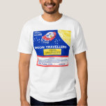 Retro Vintage Kitsch Firework Rocket Moon Tee Shirt