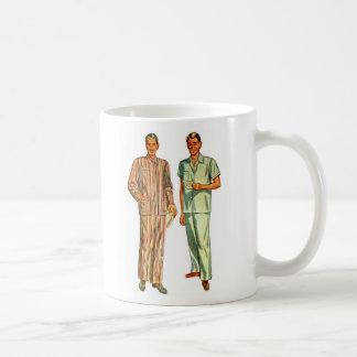 Retro Vintage Kitsch Men's Pajamas Basic White Mug