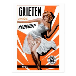Retro Vintage Kitsch Pin Up 60s Dutch Chicks Postcard