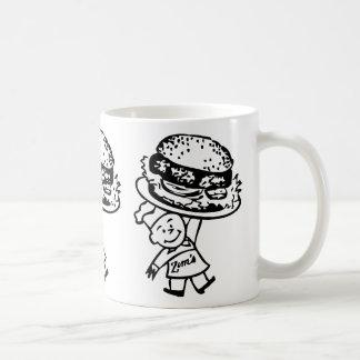 Retro Vintage Kitsch Zim's Hamburgers Basic White Mug