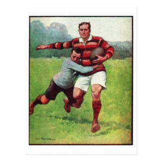 Retro Vintage Sports English Rugby Postcard