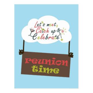 Reunion design template postcard
