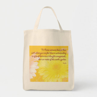 Reusable organic grocery tote grocery tote bag